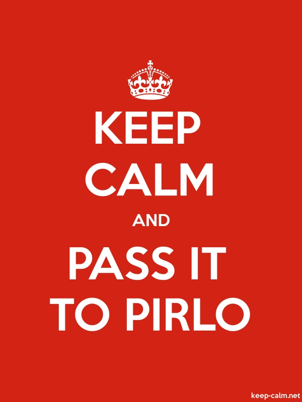 KEEP CALM AND PASS IT TO PIRLO - white/red - Default (600x800)