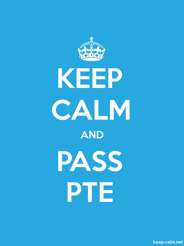 KEEP CALM AND PASS PTE - white/blue - Default (600x800)