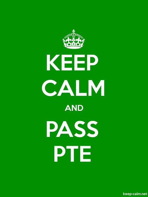 KEEP CALM AND PASS PTE - white/green - Default (600x800)