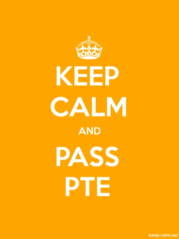 KEEP CALM AND PASS PTE - white/orange - Default (600x800)