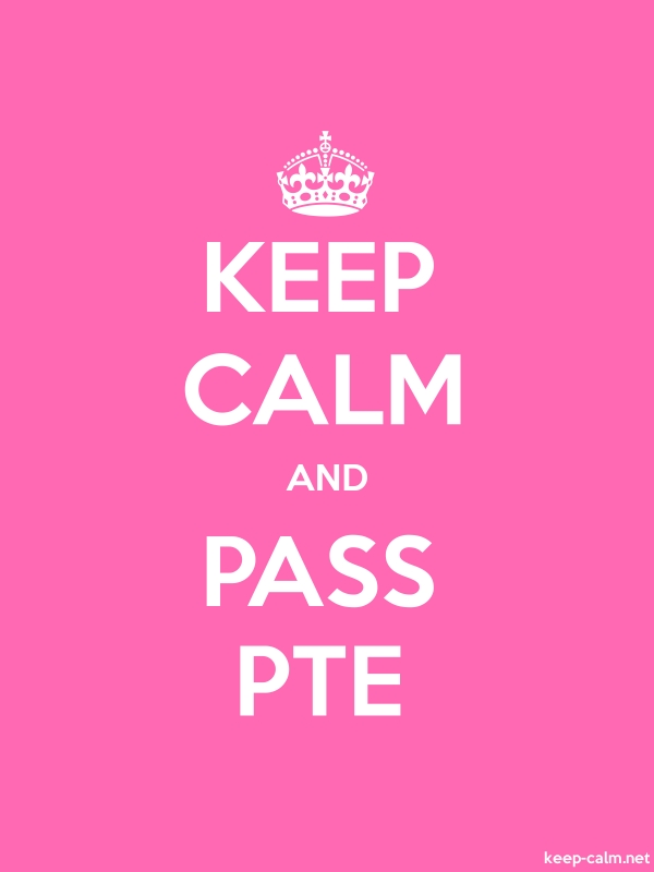 KEEP CALM AND PASS PTE - white/pink - Default (600x800)