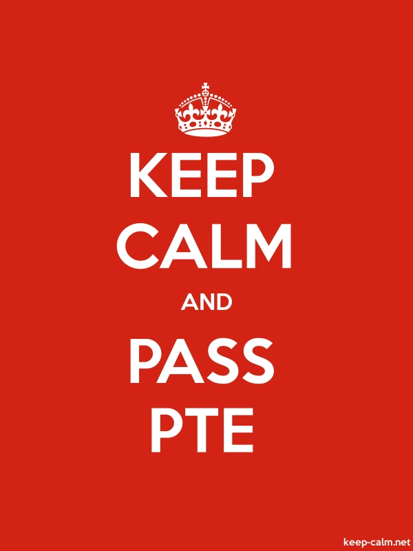KEEP CALM AND PASS PTE - white/red - Default (600x800)