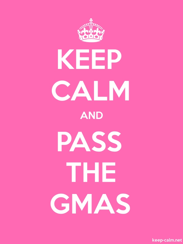 KEEP CALM AND PASS THE GMAS - white/pink - Default (600x800)