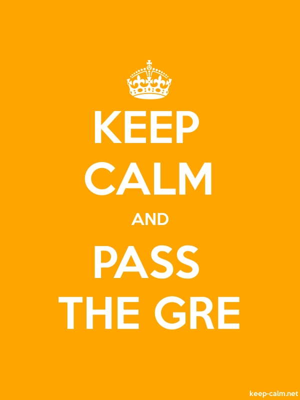 KEEP CALM AND PASS THE GRE - white/orange - Default (600x800)