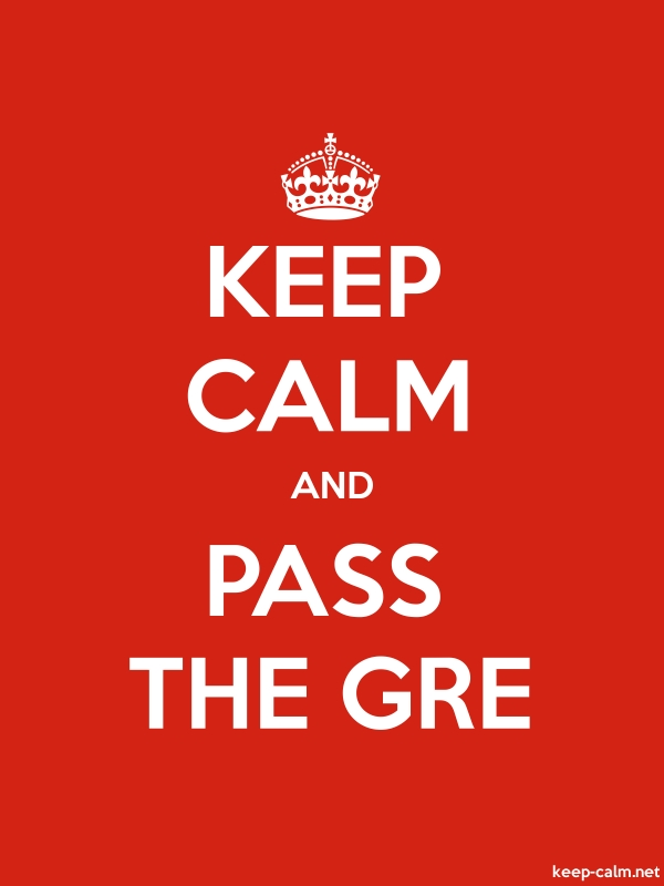KEEP CALM AND PASS THE GRE - white/red - Default (600x800)