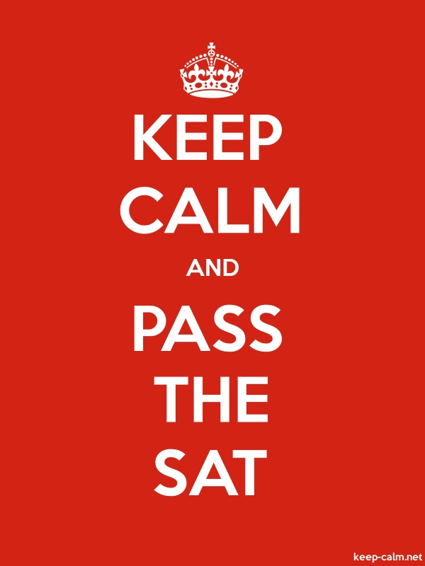 KEEP CALM AND PASS THE SAT - white/red - Default (600x800)