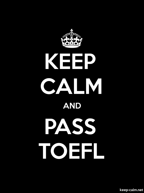 KEEP CALM AND PASS TOEFL - white/black - Default (600x800)