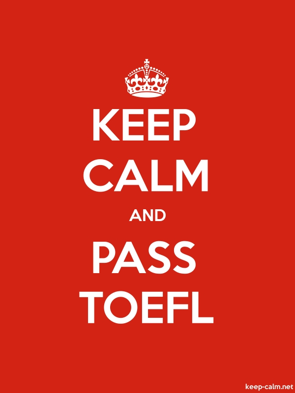 KEEP CALM AND PASS TOEFL - white/red - Default (600x800)