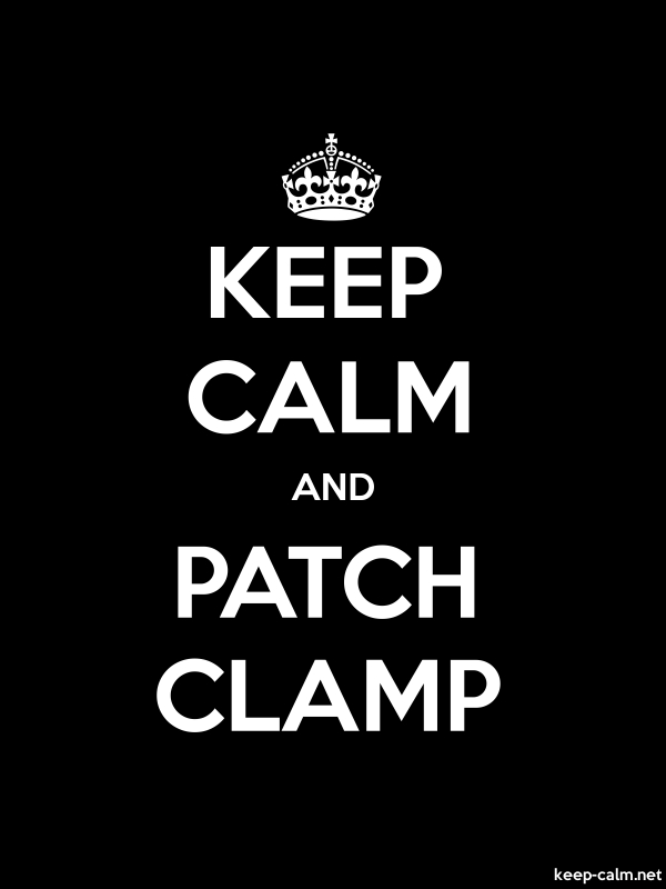 KEEP CALM AND PATCH CLAMP - white/black - Default (600x800)