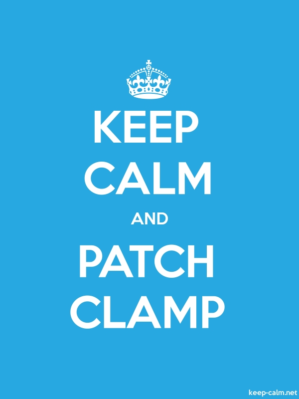 KEEP CALM AND PATCH CLAMP - white/blue - Default (600x800)