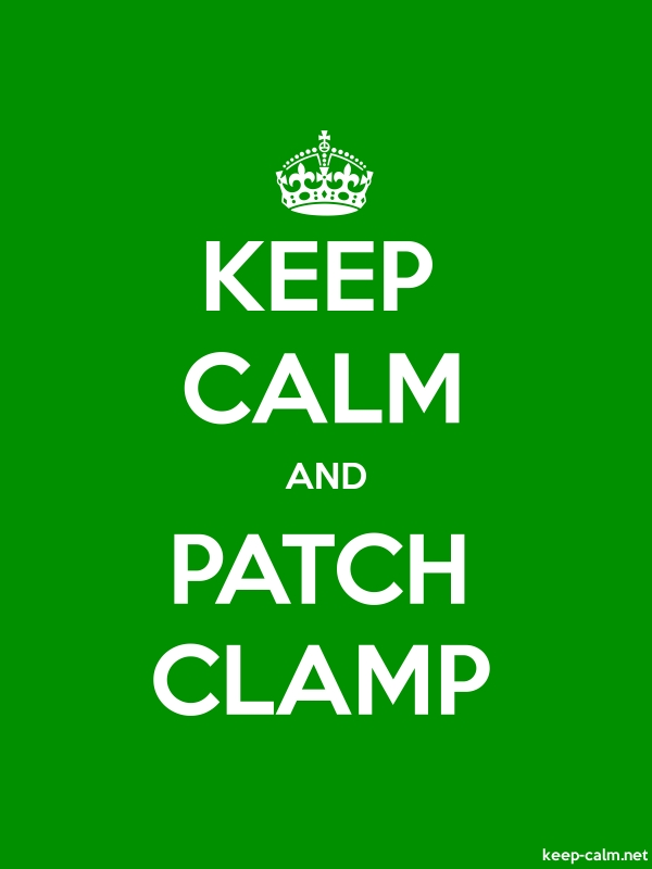 KEEP CALM AND PATCH CLAMP - white/green - Default (600x800)