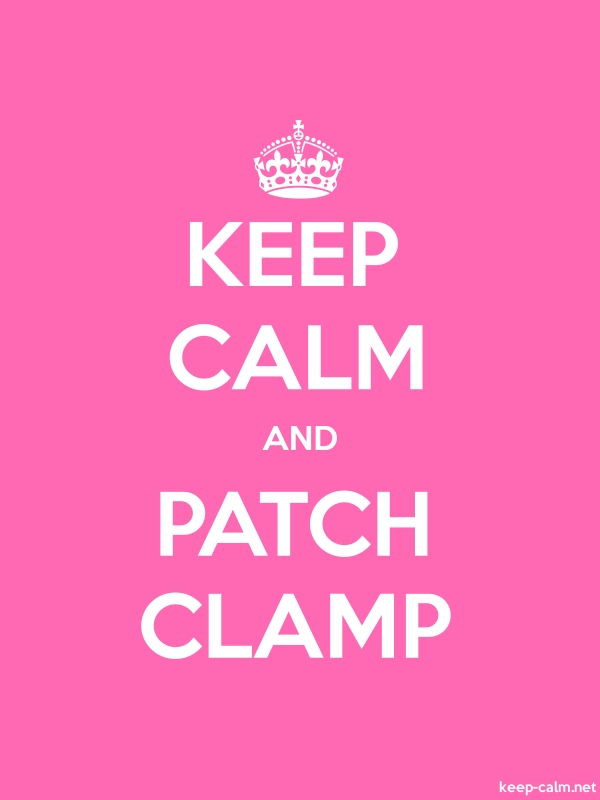 KEEP CALM AND PATCH CLAMP - white/pink - Default (600x800)