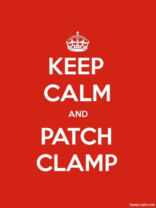 KEEP CALM AND PATCH CLAMP - white/red - Default (600x800)