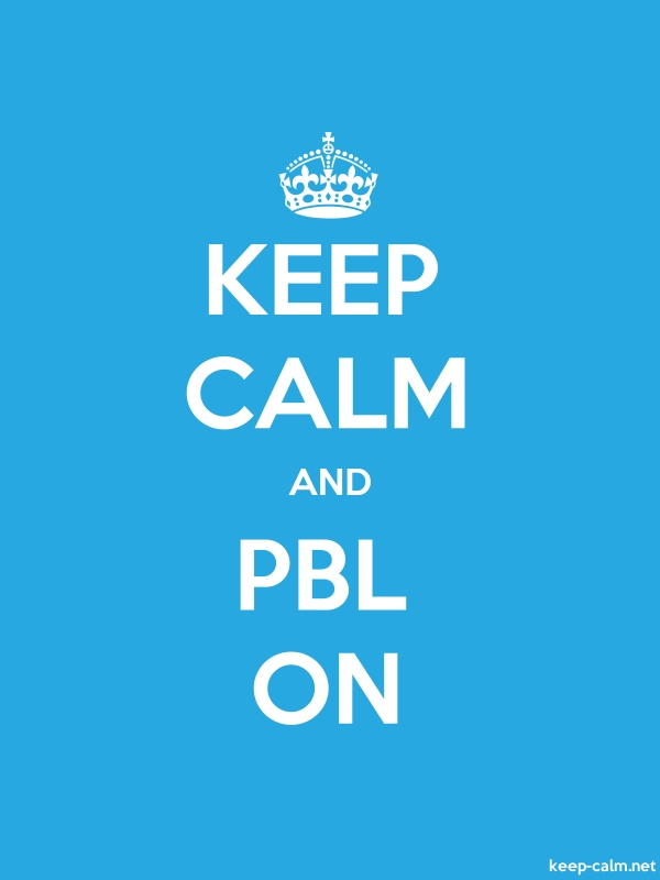KEEP CALM AND PBL ON - white/blue - Default (600x800)