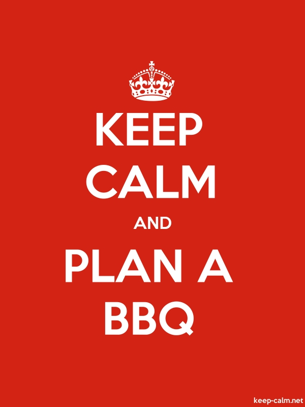 KEEP CALM AND PLAN A BBQ - white/red - Default (600x800)