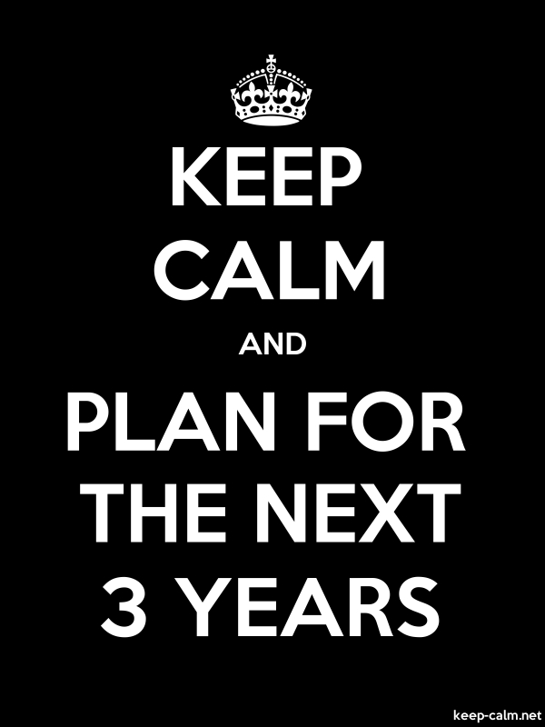 KEEP CALM AND PLAN FOR THE NEXT 3 YEARS - white/black - Default (600x800)