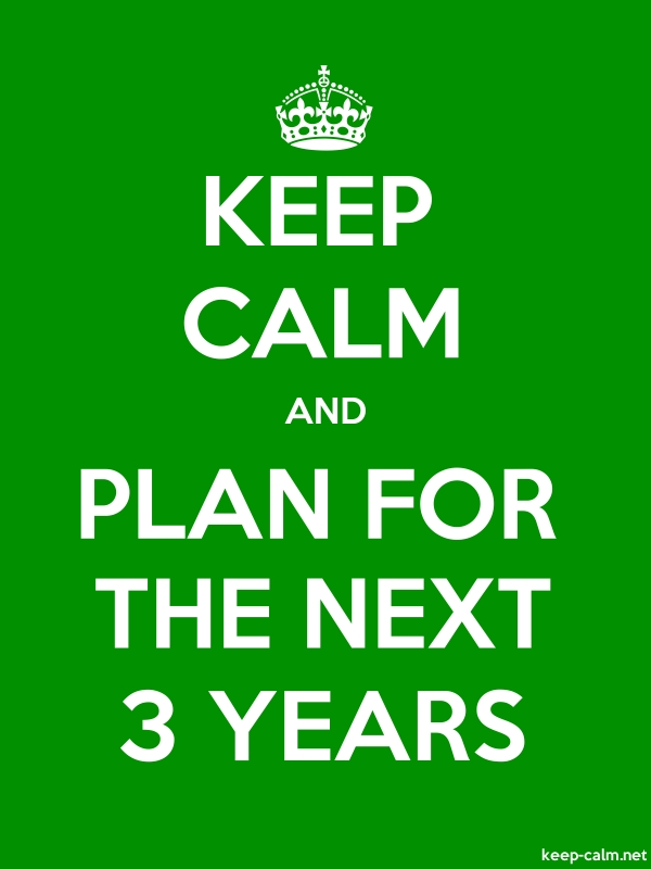 KEEP CALM AND PLAN FOR THE NEXT 3 YEARS - white/green - Default (600x800)
