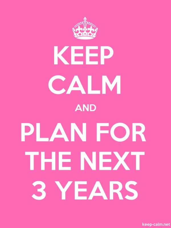 KEEP CALM AND PLAN FOR THE NEXT 3 YEARS - white/pink - Default (600x800)