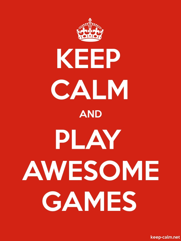 KEEP CALM AND PLAY AWESOME GAMES - white/red - Default (600x800)