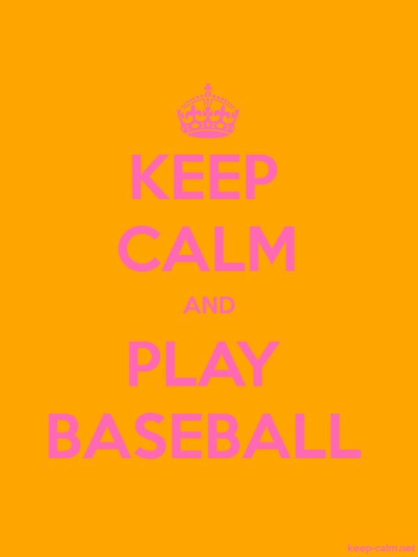 KEEP CALM AND PLAY BASEBALL - pink/orange - Default (600x800)