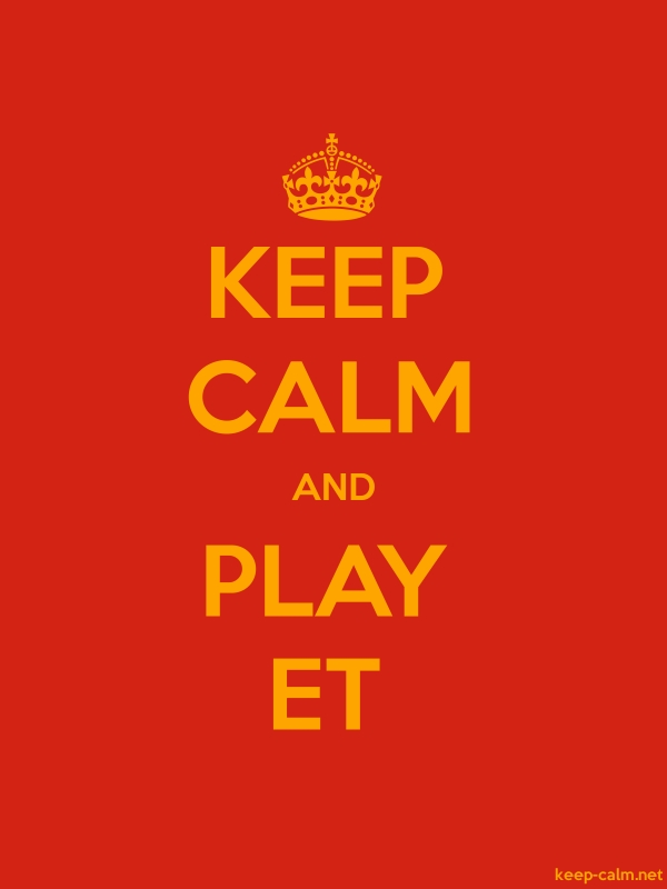 KEEP CALM AND PLAY ET - orange/red - Default (600x800)