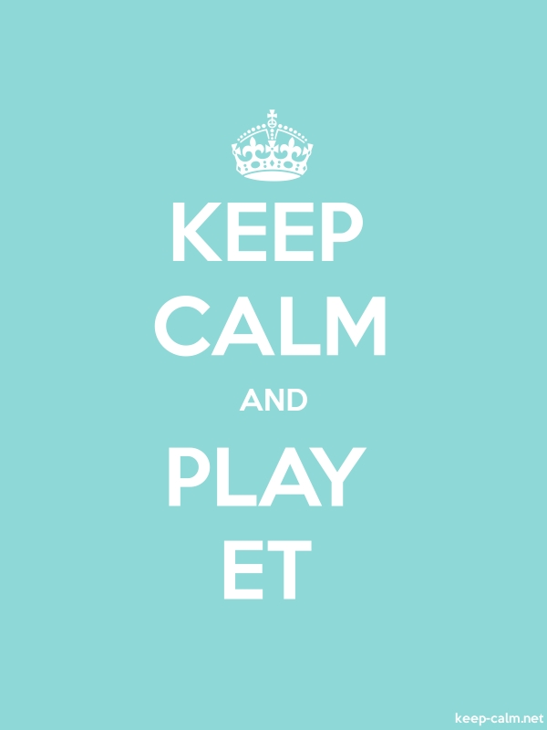 KEEP CALM AND PLAY ET - white/lightblue - Default (600x800)