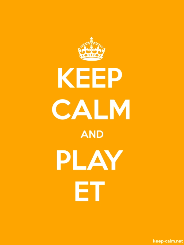 KEEP CALM AND PLAY ET - white/orange - Default (600x800)