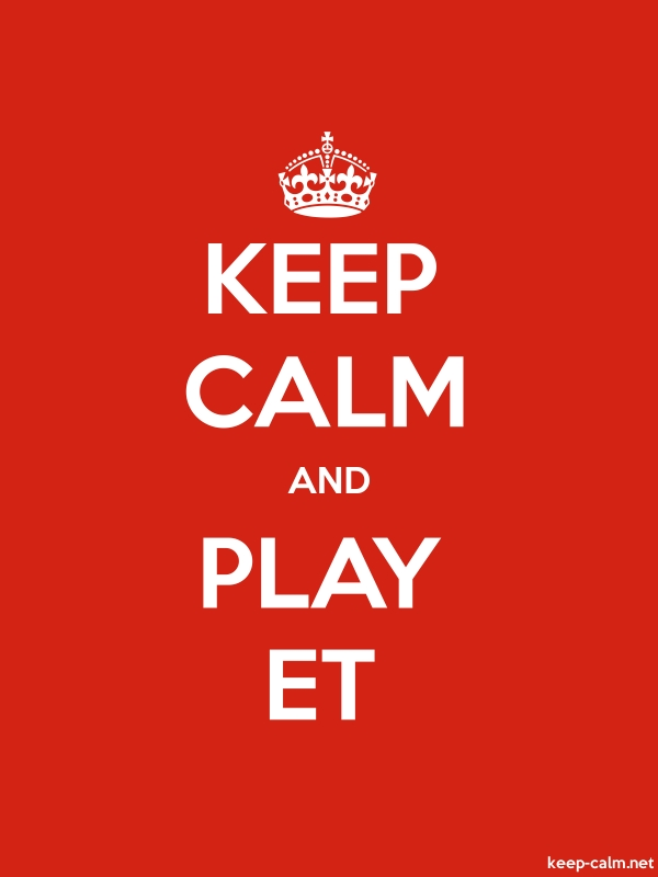 KEEP CALM AND PLAY ET - white/red - Default (600x800)