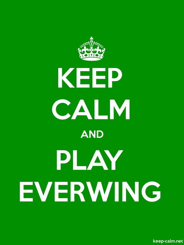 KEEP CALM AND PLAY EVERWING - white/green - Default (600x800)