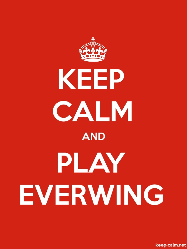 KEEP CALM AND PLAY EVERWING - white/red - Default (600x800)