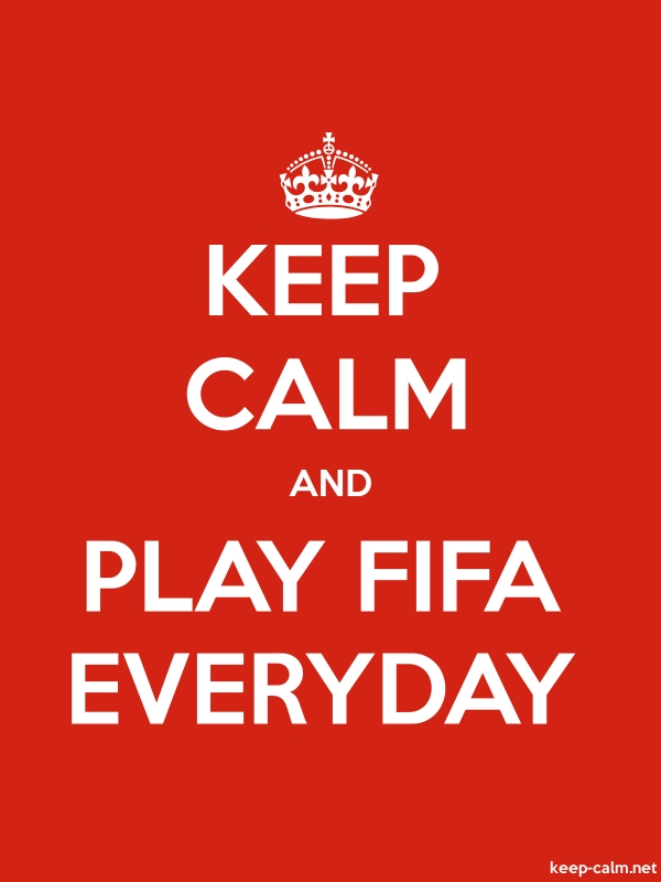 KEEP CALM AND PLAY FIFA EVERYDAY - white/red - Default (600x800)