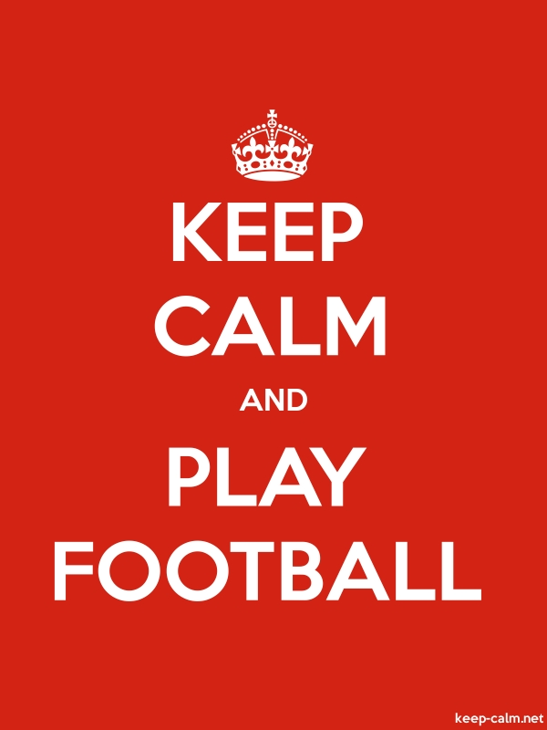 KEEP CALM AND PLAY FOOTBALL - white/red - Default (600x800)