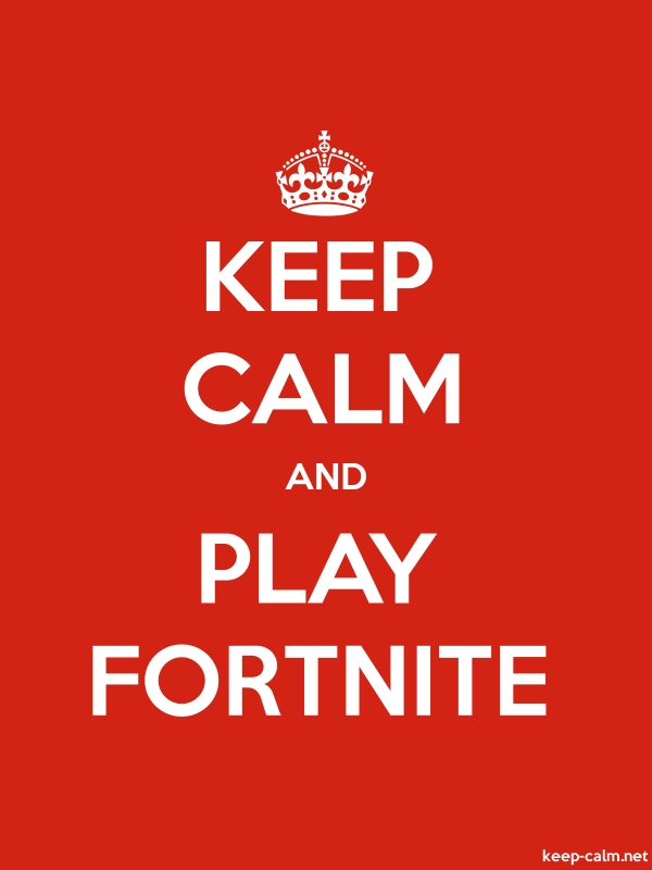 KEEP CALM AND PLAY FORTNITE - white/red - Default (600x800)