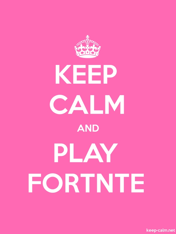 KEEP CALM AND PLAY FORTNTE - white/pink - Default (600x800)