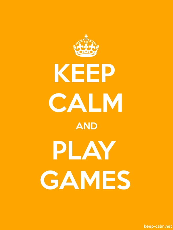 KEEP CALM AND PLAY GAMES - white/orange - Default (600x800)