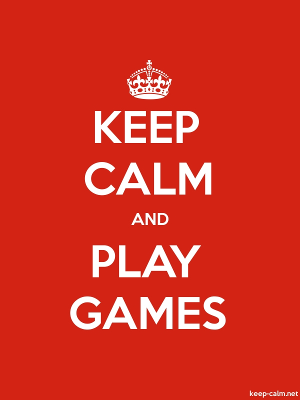 KEEP CALM AND PLAY GAMES - white/red - Default (600x800)
