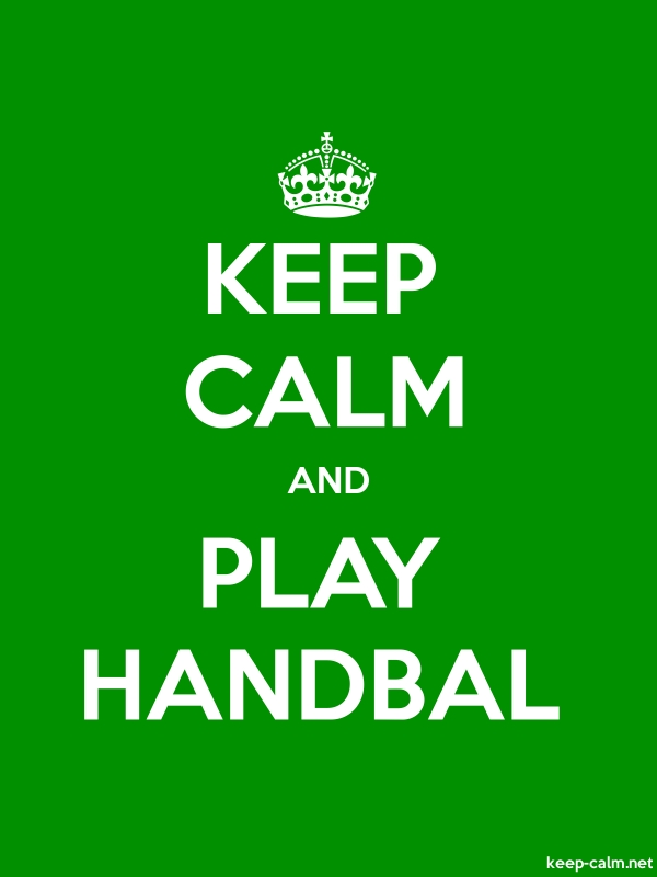 KEEP CALM AND PLAY HANDBAL - white/green - Default (600x800)
