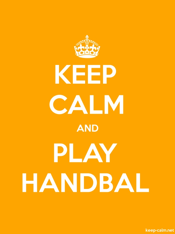KEEP CALM AND PLAY HANDBAL - white/orange - Default (600x800)