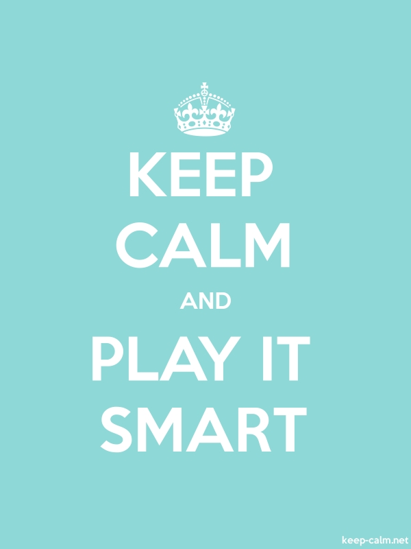 KEEP CALM AND PLAY IT SMART - white/lightblue - Default (600x800)