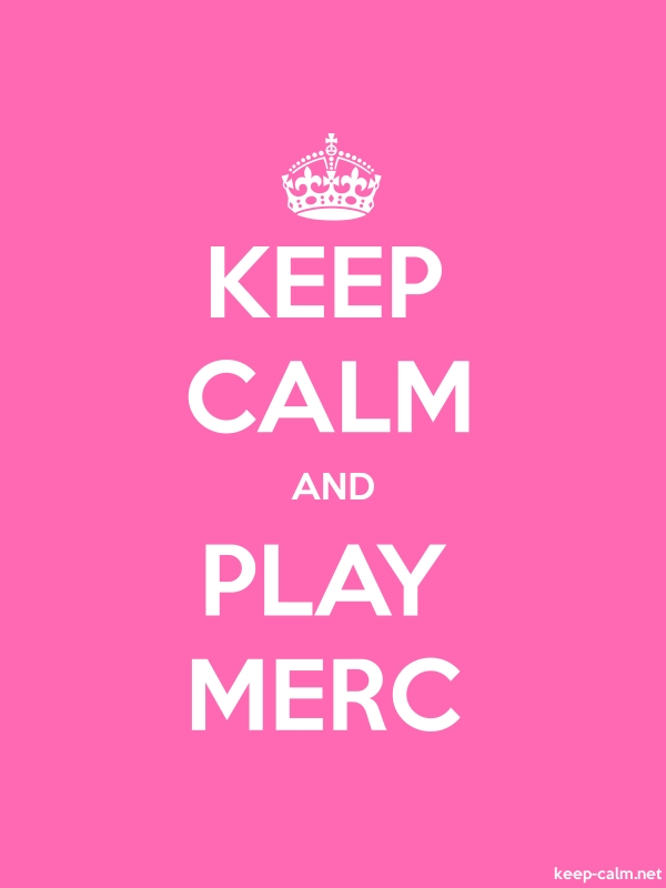 KEEP CALM AND PLAY MERC - white/pink - Default (600x800)