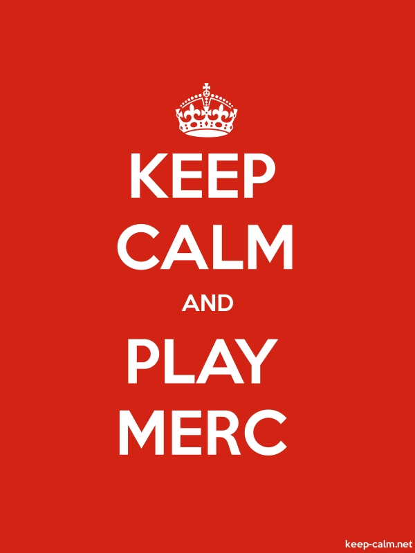 KEEP CALM AND PLAY MERC - white/red - Default (600x800)