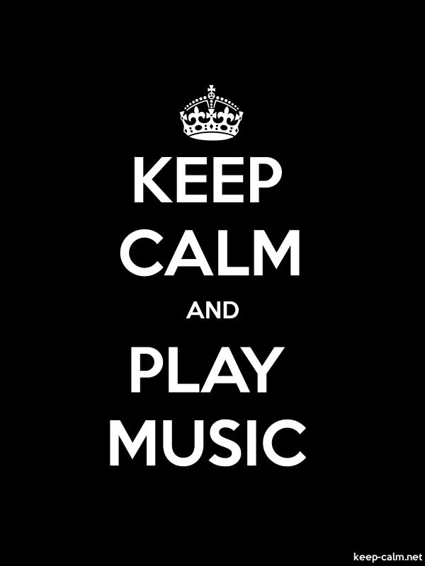 KEEP CALM AND PLAY MUSIC - white/black - Default (600x800)