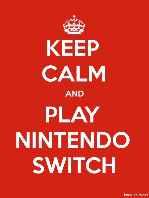 KEEP CALM AND PLAY NINTENDO SWITCH - white/red - Default (600x800)