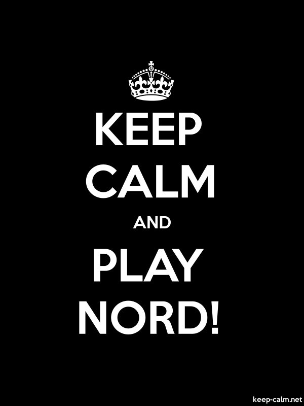 KEEP CALM AND PLAY NORD! - white/black - Default (600x800)