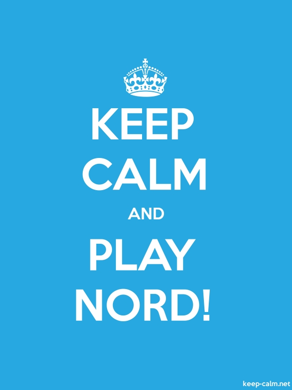 KEEP CALM AND PLAY NORD! - white/blue - Default (600x800)