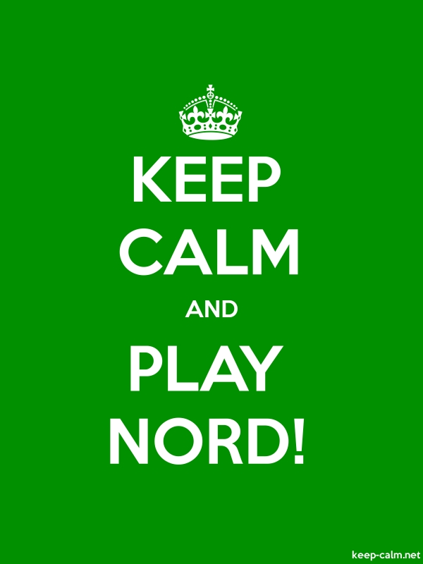 KEEP CALM AND PLAY NORD! - white/green - Default (600x800)
