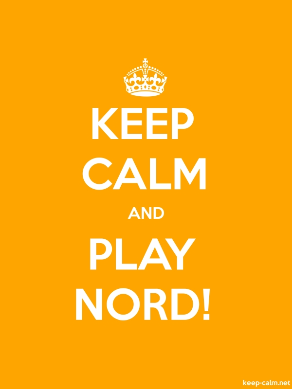 KEEP CALM AND PLAY NORD! - white/orange - Default (600x800)