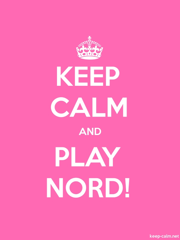 KEEP CALM AND PLAY NORD! - white/pink - Default (600x800)