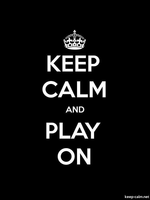KEEP CALM AND PLAY ON - white/black - Default (600x800)