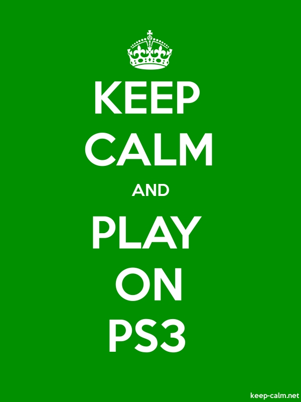 KEEP CALM AND PLAY ON PS3 - white/green - Default (600x800)